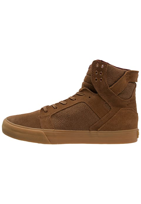 Supra SKYTOP Baskets Montante Homme Marron/Rouge