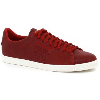 Basket Charline Metallic Suede Le Coq Sportif Femme Rouge Vendre France