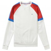 Sweat Tricolore Le Coq Sportif Homme Blanc Magasin Paris