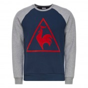 La Boutique Officielle Sweat Tricolore Tennis Le Coq Sportif Homme Bleu Gris